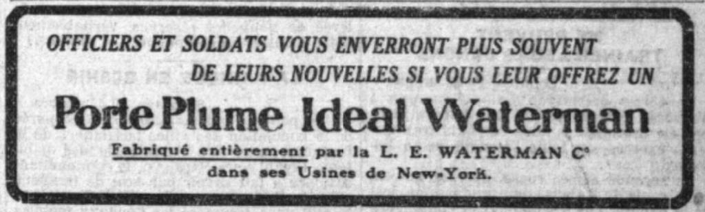 Safety Waterman Plume Rétractable 1908 1936 L Intégrale