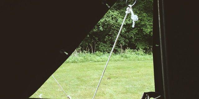 vu depuis une tente